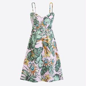 J. Crew Tropical Floral Sleeveless Mini Dress Boho